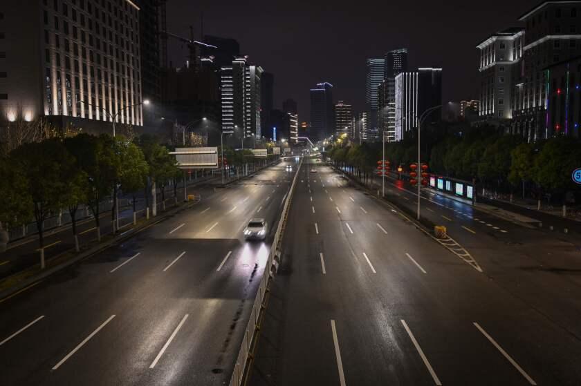 A street in Wuhan.