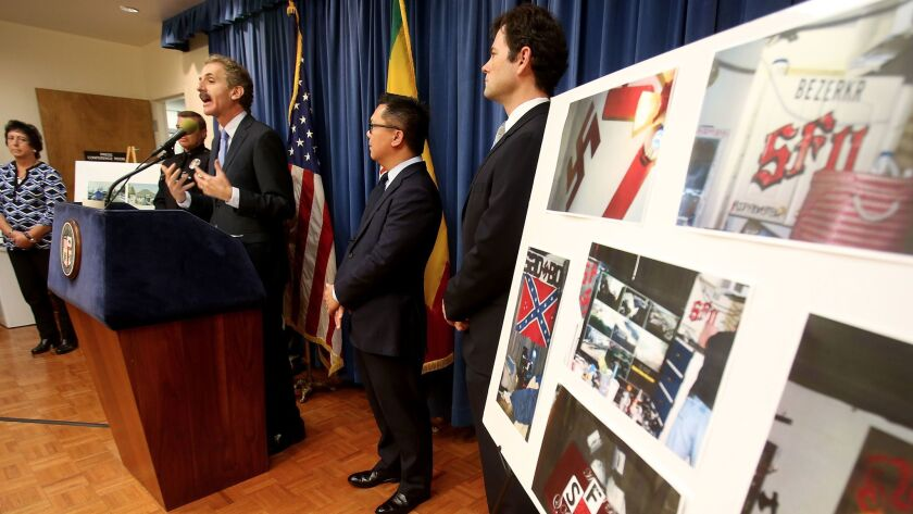 LOS ANGELES, CALIF. DEC. 9, 2016. City Attorney Mike Feuer held a press conference Tuesday, Dec. 13