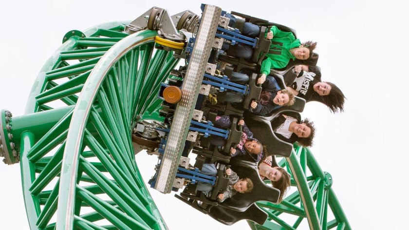 Knoebels adding looping steel coaster to vintage ride lineup - Los on six flags over georgia park map 2013, kennywood park map 2013, holiday world park map 2013,
