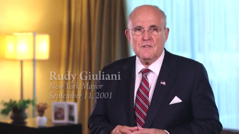 Former New York Mayor Rudy Guiliani defended Rep. Darrell Issa, R-Vista, in a new commercial.