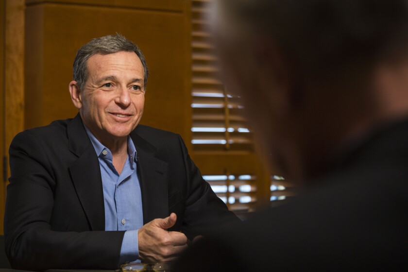 Walt Disney Co. Chairman and Chief Executive Bob Iger, shown in December, is seen in December 2015.