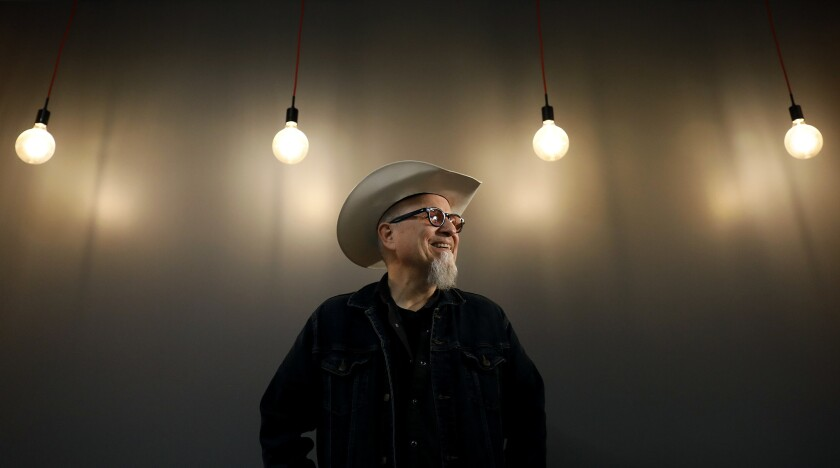 """Bobcat Goldthwait, writer and director of the truTV comedy-horror anthology series """"Misfits & Monsters,"""" is photographed in Hollywood."""