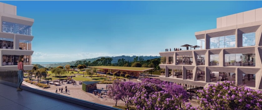 A rendering of the interior of the Torrey View complex,