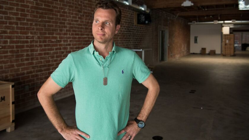Ring founder and chief executive Jamie Siminoff stands in the new building in Santa Monica where is company will expand.