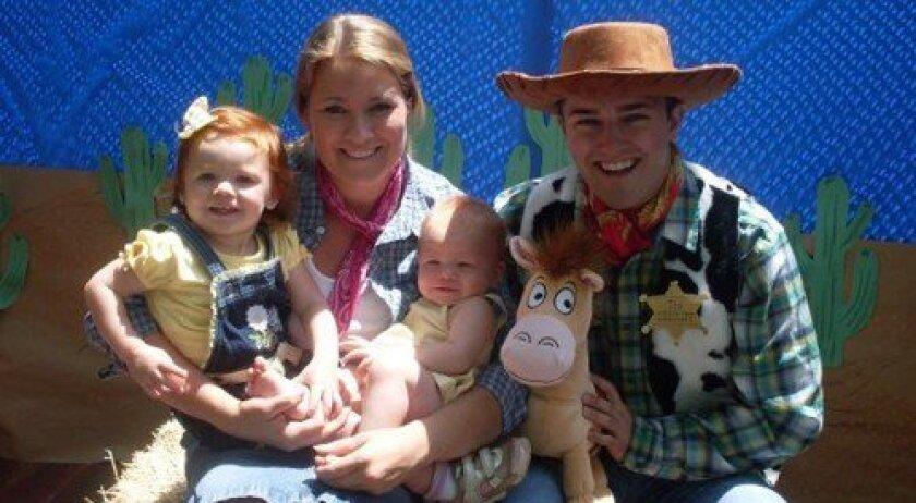 Peyton, Heather, Taylor and Cowboy Blake
