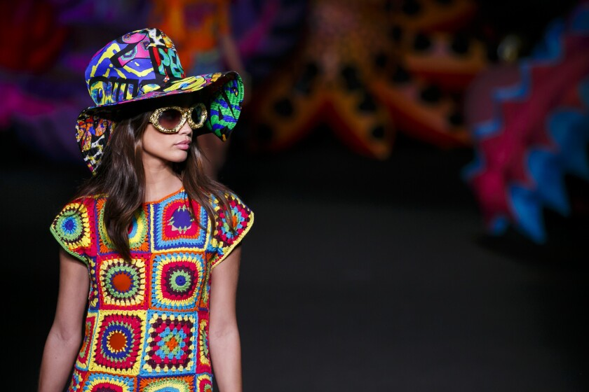 It's a psychedelic love-in at the Moschino show presented at Made LA on June 10.
