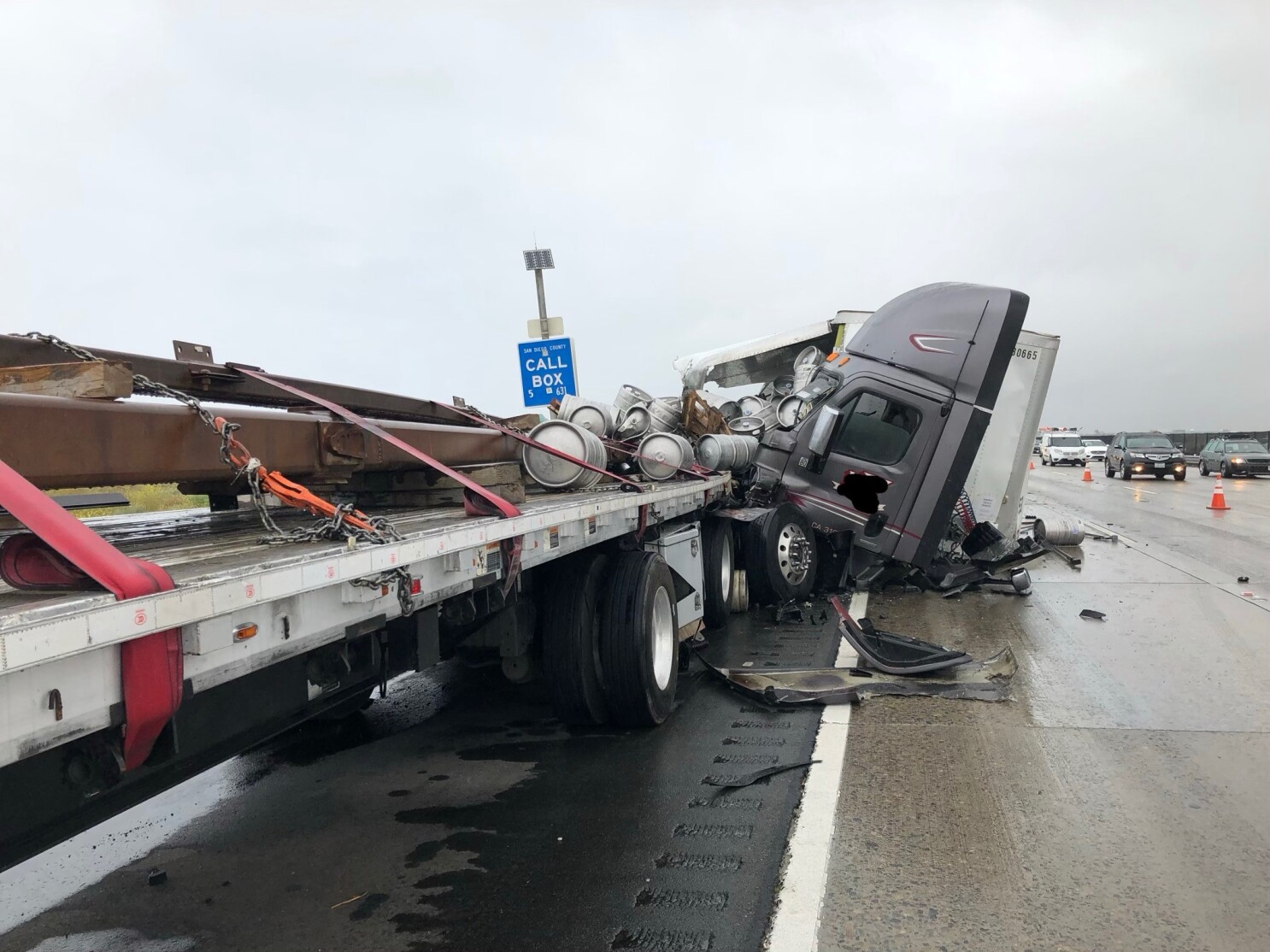 Traffic slow on south I-5 near Orange County line as lanes reopen