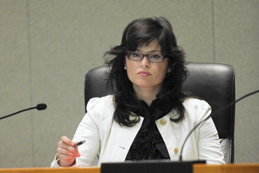CalPERS board Vice President Priya Mathur, above in 2009, has agreed to pay a $4,000 fine for failing to file timely campaign finance reports if the Fair Political Practices Commission approves it at an Oct. 16 meeting.