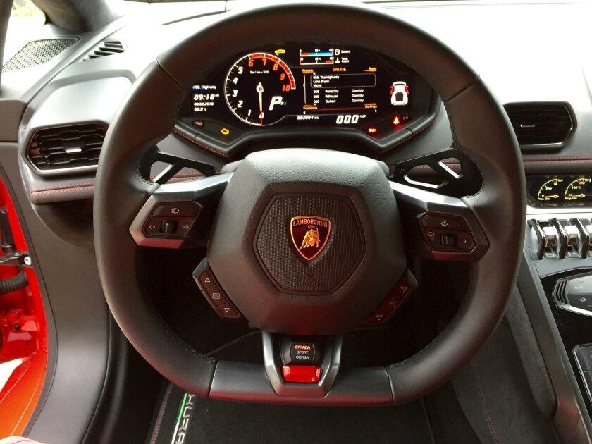 The steering wheel command center.