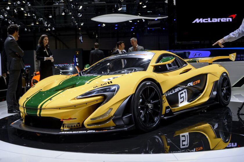 Geneva Motor Show Aston Martin Mclaren Unveil Track Only Cars Los Angeles Times