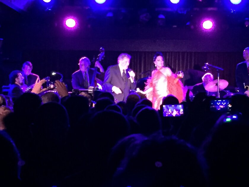 Tony Bennett and Lady Gaga performed Thursday night at a private party at the Belly Up in Solana Beach. Also on the bill: Aloe Blacc and Foo Fighters.