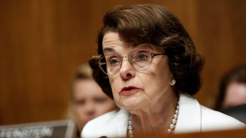 Sen. Dianne Feinstein, D-Calif., speaks on Capitol Hill in Washington on July 12.