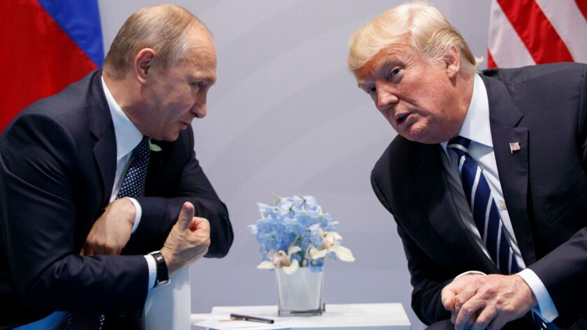 President Trump meets with Russian President Vladimir Putin at the G-20 Summit in Hamburg, Germany,