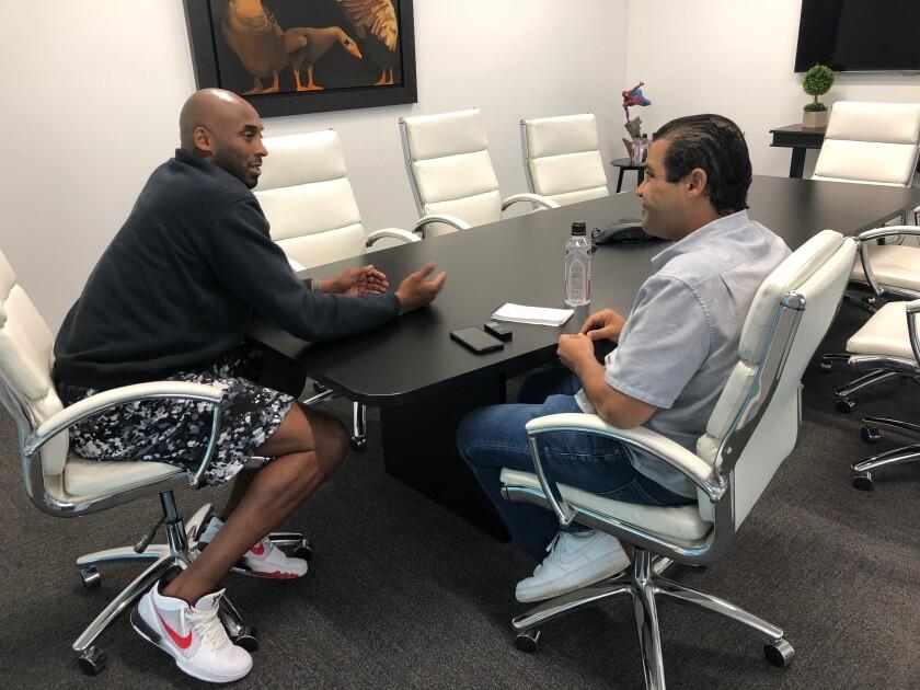 Arash Markazi interviewing Kobe Bryant