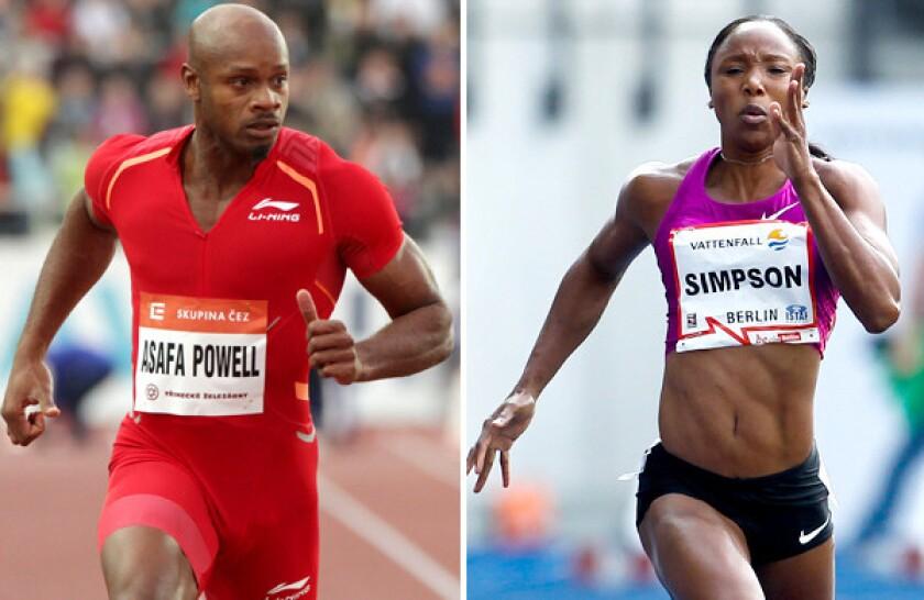 Asafa Powell, Sherone Simpson