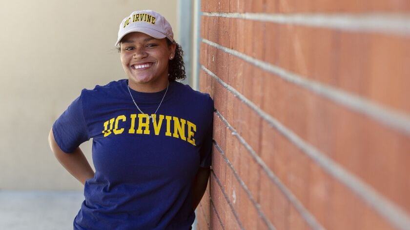 Costa Mesa High's Tayla Crenshaw, who committed to UC Irvine on Wednesday, plans to reach the CIF State track and field championship meet for the second straight year.