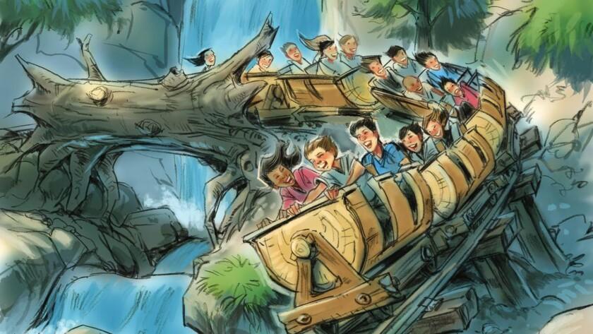 Seven Dwarfs Mine Train roller coaster