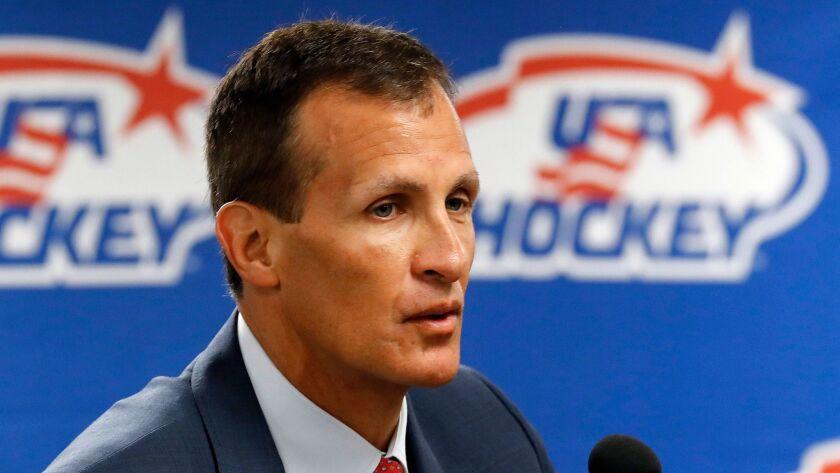 U.S. Olympic men's hockey coach Tony Granato.