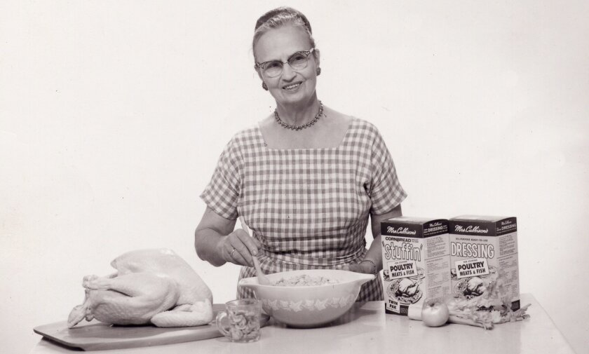 San Diego County native Sophie Huchting Cubbison created and marketed prepared stuffing mixes.