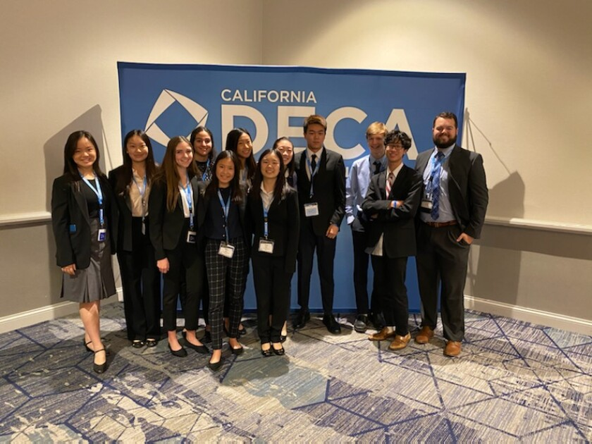 Torrey Pines High School participants at the SoCal DECA conference.