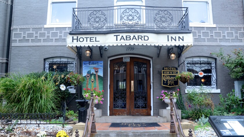 The Tabard Inn, a hotel and restaurant in Washington D.C.'s Dupont Circle neighborhood, dates to 1922.