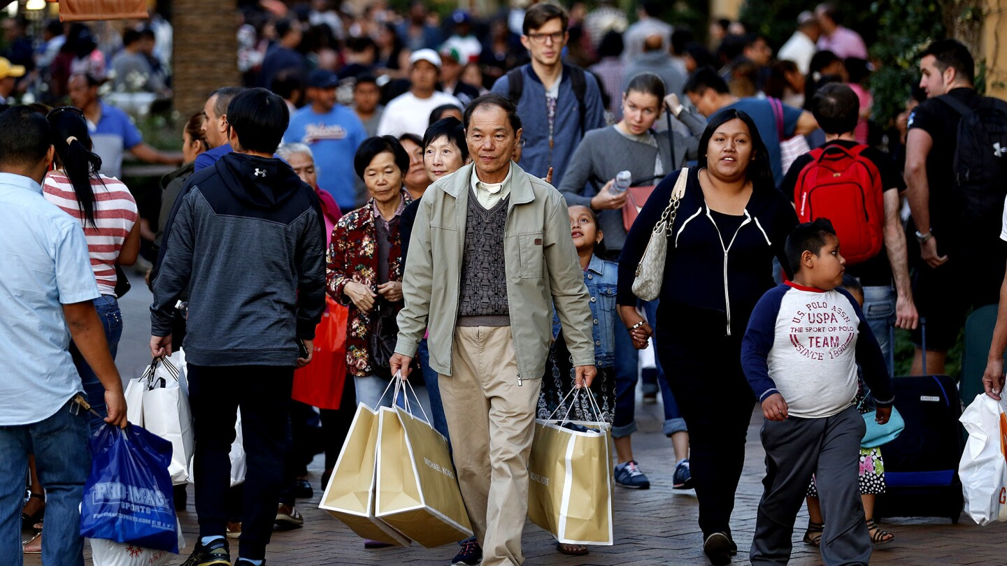 Holiday shoppers at the Citadel Outlets in Los Angeles, Calif., on Black Friday.