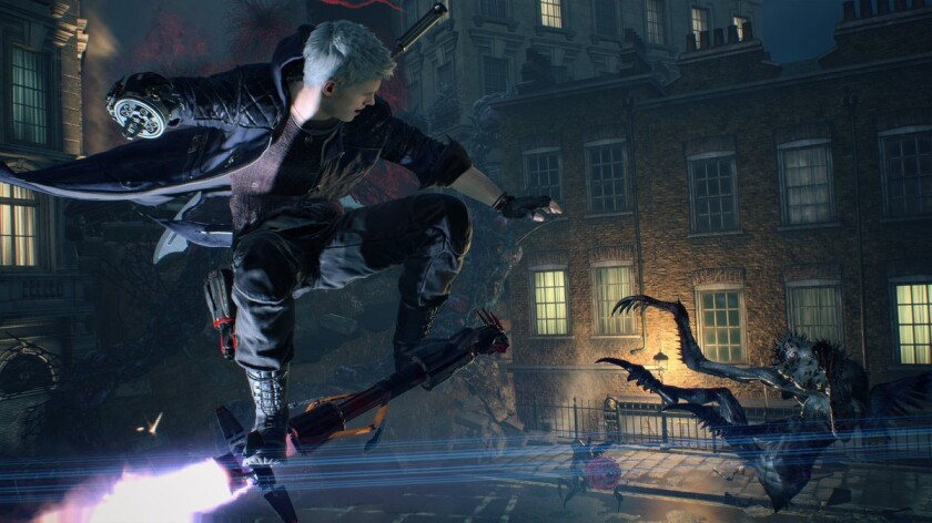 """A scene from """"Devil May Cry 5."""""""