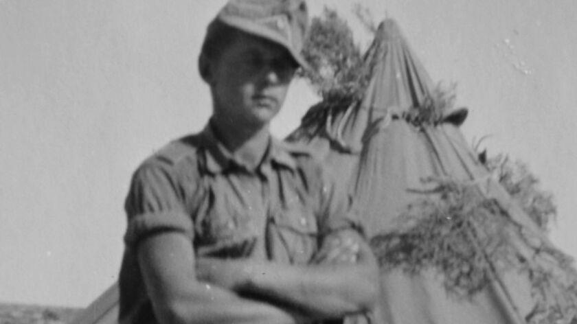 Willi Kleemeier while he was in the German army in Tobruk, Libya in 1941.