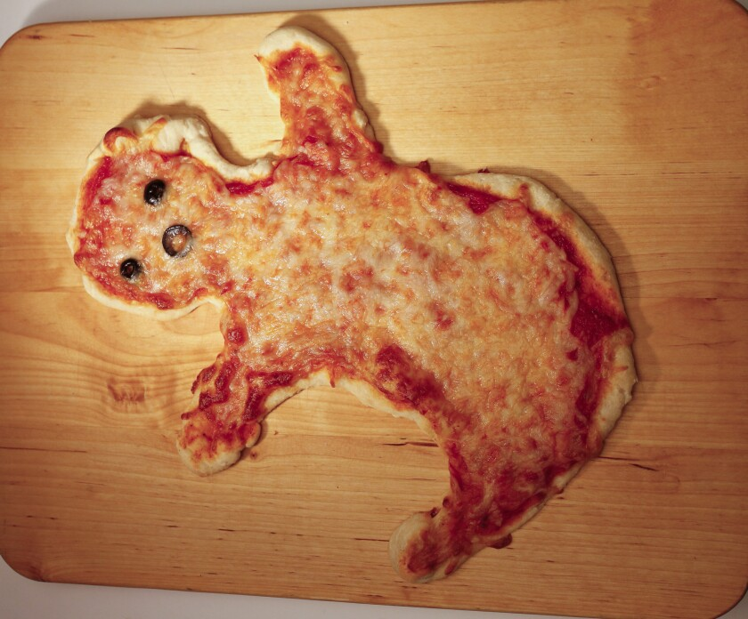 Ghost-shaped pizza