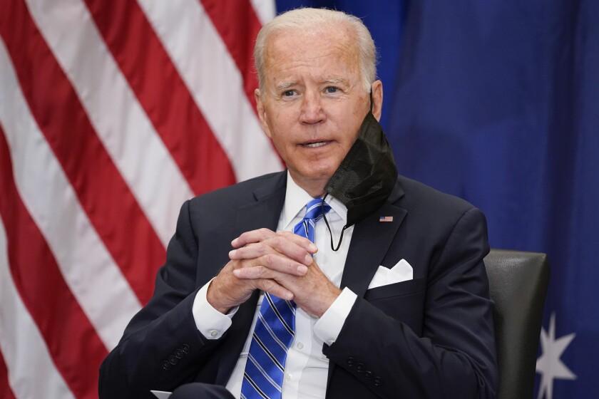 El presidente de Estados Unidos, Joe Biden, en una reunión con el primer ministro de Australia