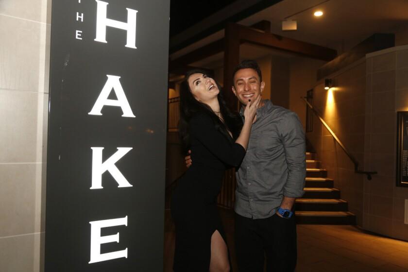 Blind daters Zlata Sushchik and Scott Schindler at The Hake in La Jolla.