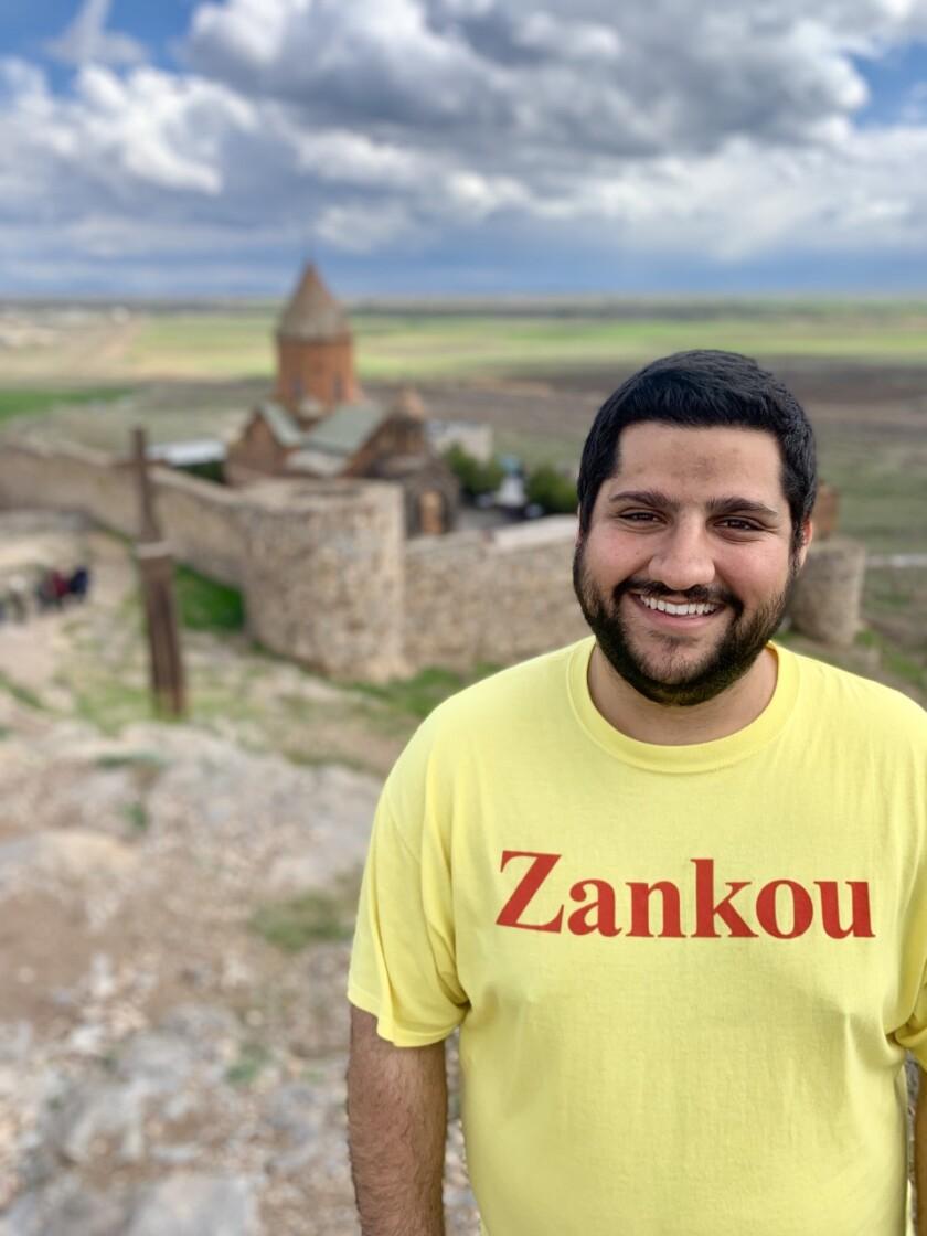 Ryan Ahari, of Glendale, in Armenia