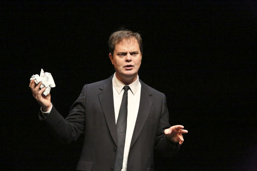 Rainn Wilson in 'Thom Pain (Based on Nothing)' at the Geffen Playhouse