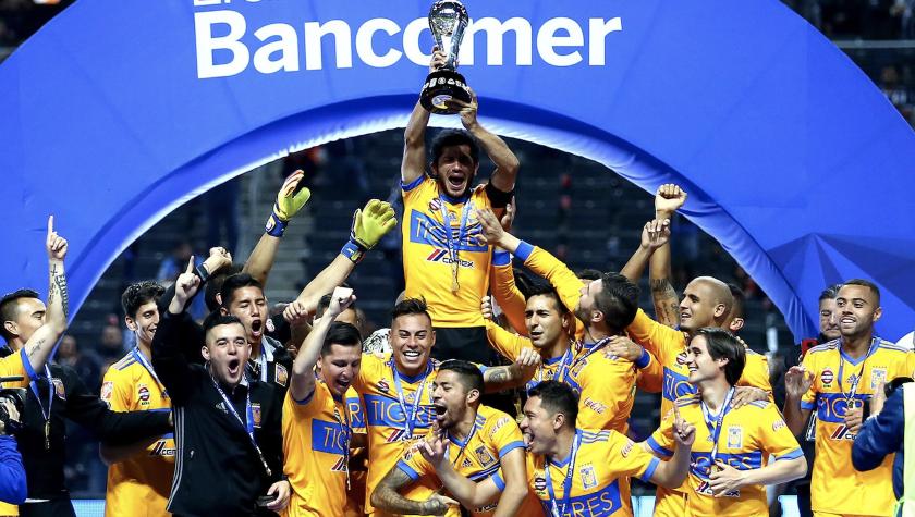 Los Tigres UANL, campeones del futbol mexicano.
