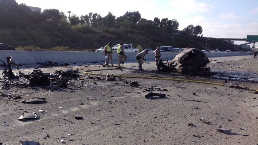 Three dead in wrong-way I-805 crash in Sorrento Valley that