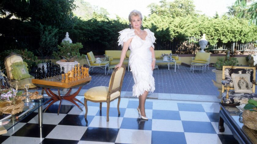 Zsa Zsa Gabor at home in Bel Air, Los Angeles, America - 12 Mar 1984
