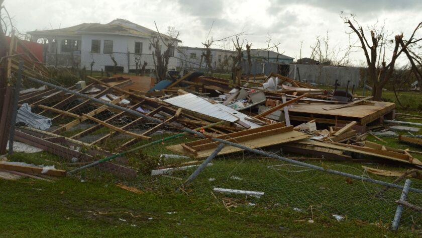 Damage left Sept. 7 on Barbuda after Hurricane Irma.