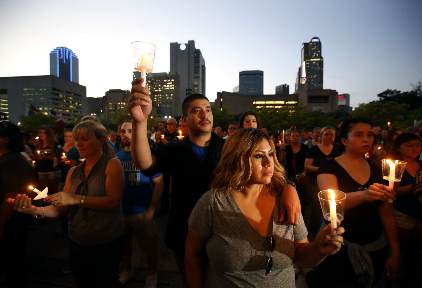 Candlelight vigil in Dallas for fallen officers