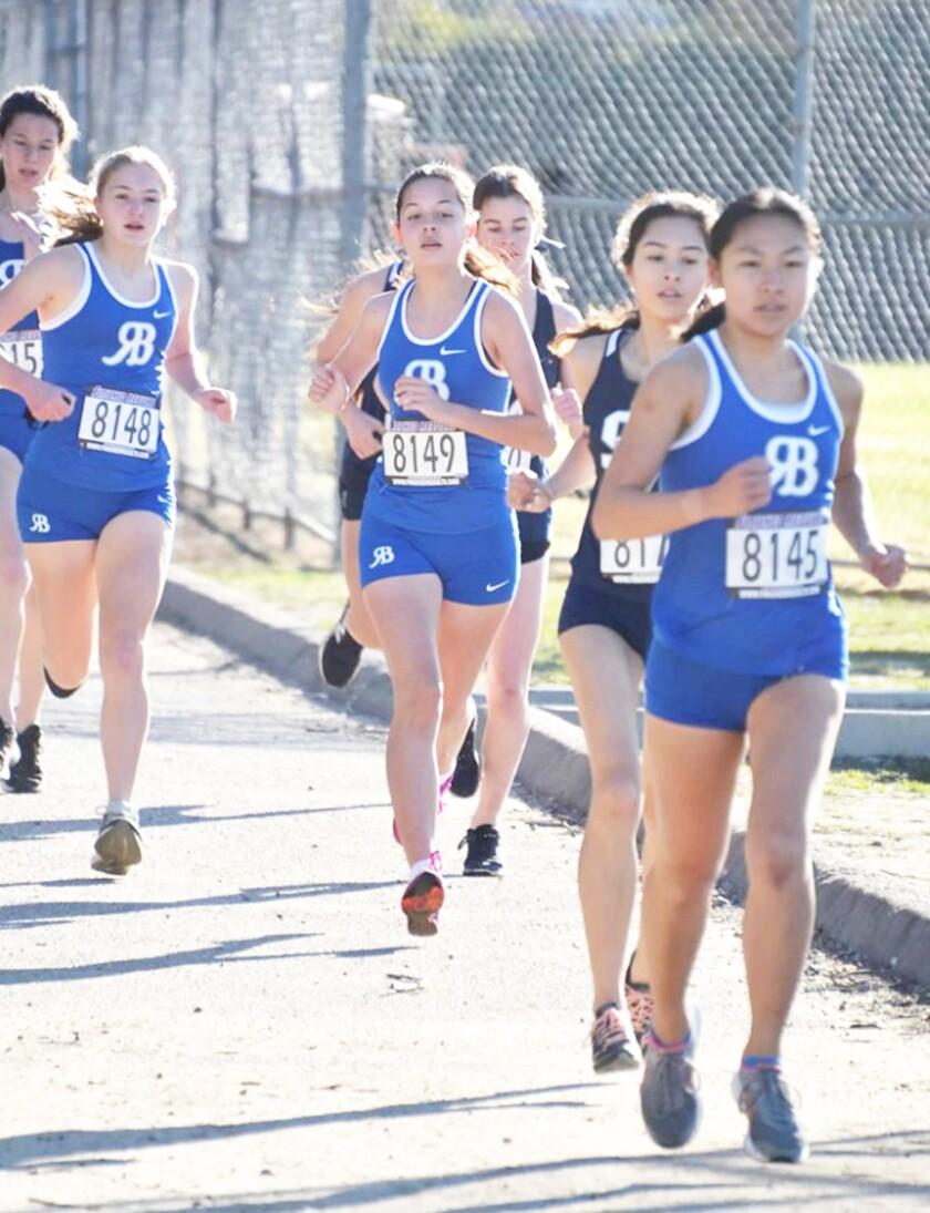 Returning Rancho Bernardo runners include Madison Lorenz (No. 8148) and Vanessa Ramirez (No. 8149).