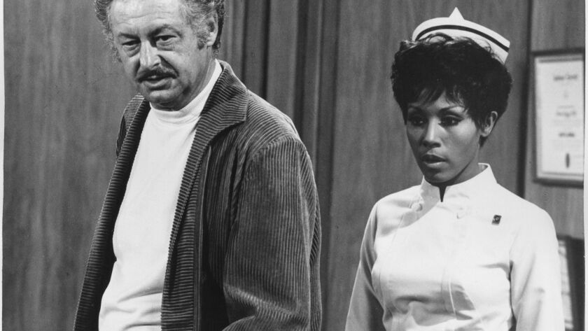 "FILE PHOTO –– Hall Kanter, TV writer who created the 1968–71 TV sitcom ""Julia"" with star Diahann Car"
