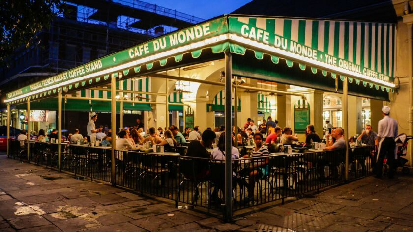 Café du Monde, the original French Market coffee stand has been operating since 1862. Courtesy of Ne