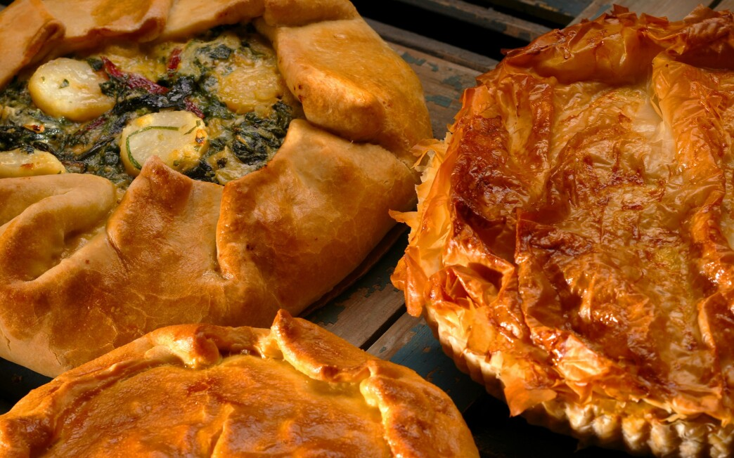 Greens and potato torta or galette