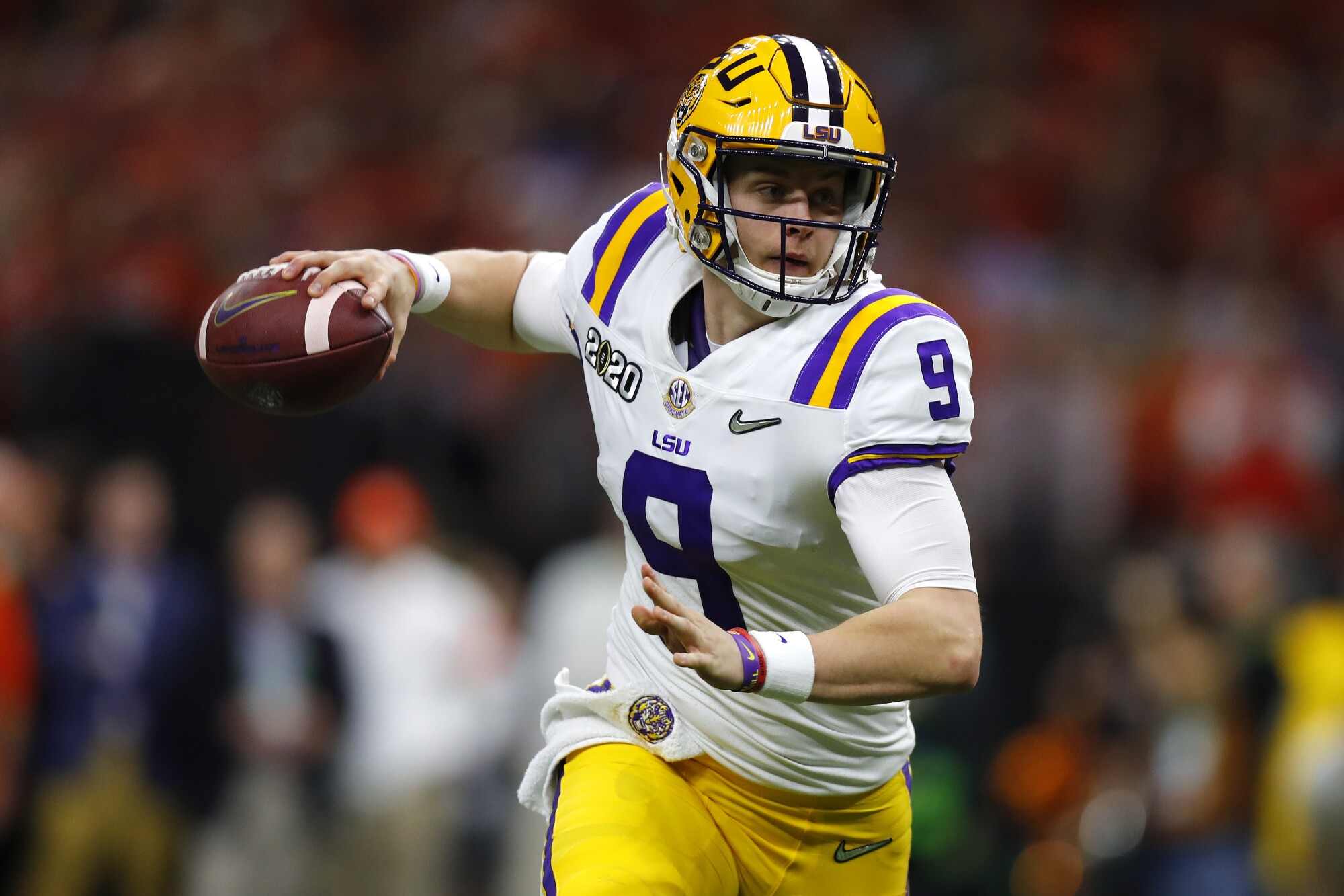 LSU quarterback Joe Burrow was selected No. 1 by the Cincinnati Bengals in the NFL draft on Thursday.