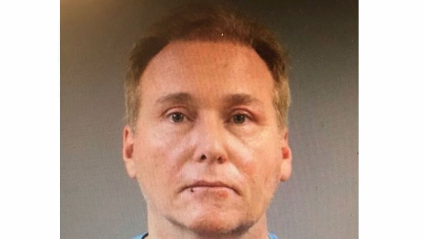 A mug shot of Rene Boucher, who has been charged with assaulting and injuring Sen. Rand Paul of Kentucky.