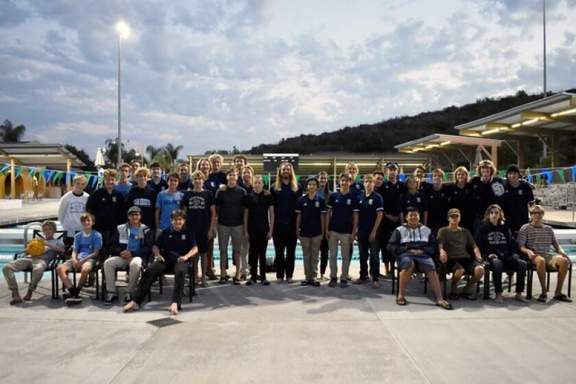 The San Dieguito Academy boys water polo team