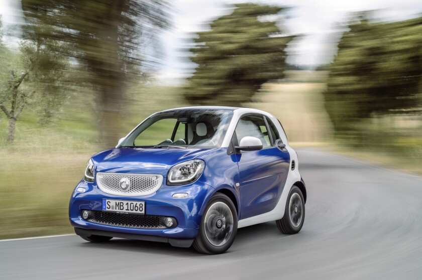The 2016 Smart Fortwo microcar will go on sale in the U.S. in fall 2015.