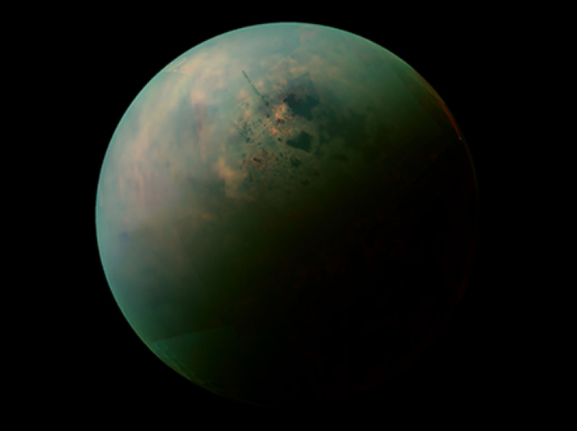 Titan: Land o' methane lakes