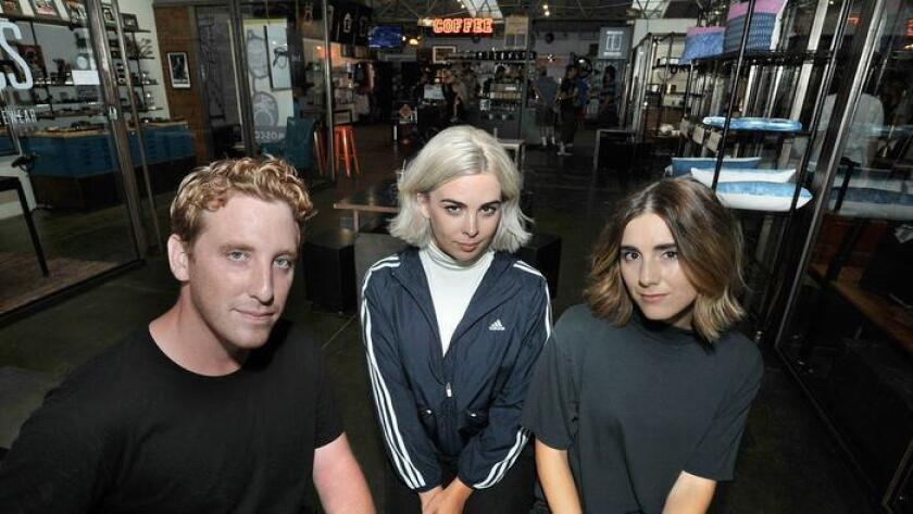 Garden Echo members, from left, Andrew Moberly, Sara Swanson and Alexia Villarino say the San Diego music scene has been supportive and allows them to experiment with their dreamy, moody sound. (For The San Diego Union-Tribune)