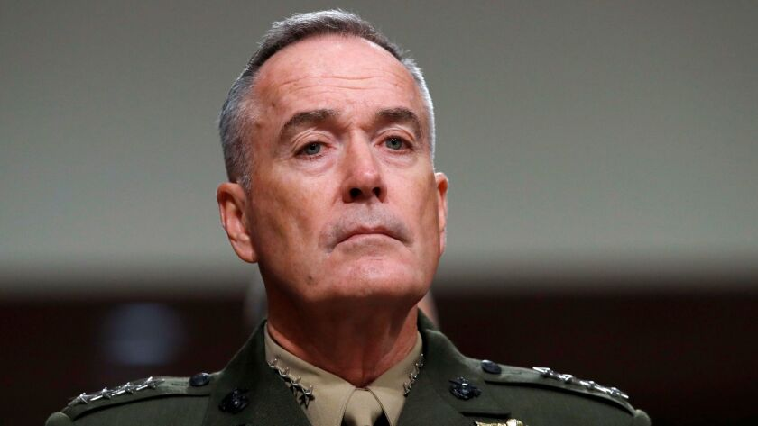 Marine Gen. Joseph F. Dunford Jr., chairman of the Joint Chiefs of Staff.