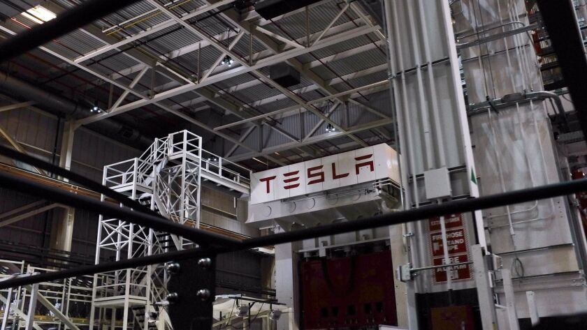 Inside Tesla's assembly plant in Fremont
